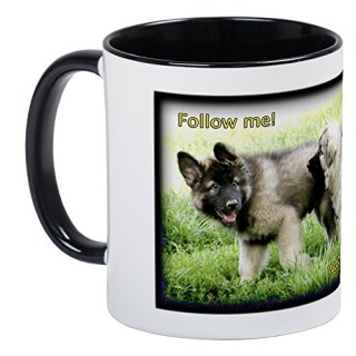 CafePress - Shiloh Shepherd Puppies Follow Me Mug - Unique Coffee Mug, Coffee Cup