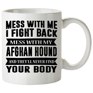 AFGHAN HOUND Mug 11 Oz - Good for Gifts - Unique Coffee Cup, Plush, Dog, Decal, Calendar, Scarf, Puzzle, Pendant
