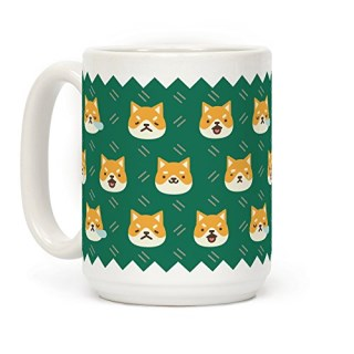 Shiba Inu Emoji Dog Doge 15 OZ Coffee Mug by LookHUMAN