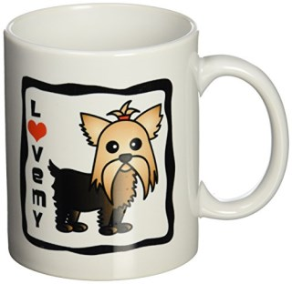 3dRose I Love My Yorkshire Terrier Yorkie Mug, 11-Ounce