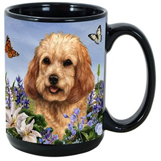 Garden Party [A-K] Cockapoo 15 oz Coffee Mug Bundle with Non-Negotiable K-Nine Kash by Imprints Plus (060)