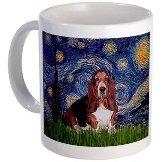 CafePress Starry / Basset Hound Mug - Standard Multi-color
