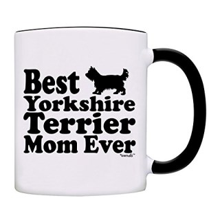 owndis Best Yorkshire Terrier Mom Ever Gift Coffee Mom Mug-0063-Black