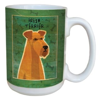 Tree-Free Greetings sg43994 Irish Terrier by John W. Golden Ceramic Mug with Full-Sized Handle, 15-Ounce