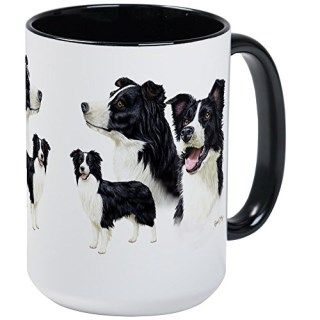 CafePress - Border Collie Large Mug - Coffee Mug, Large 15 oz. White Coffee Cup