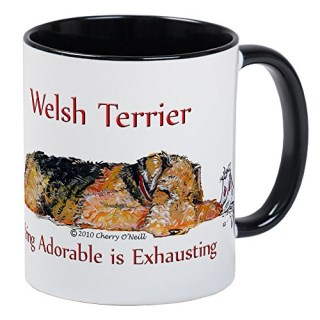 CafePress - Exhausted Welsh Terrier Mug - Unique Coffee Mug, Coffee Cup