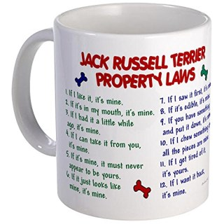 CafePress - Jack Russell Terrier Property Laws Mug - Unique Coffee Mug, Coffee Cup