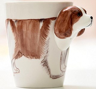 3D Hand-painted Ceramic Coffee Mugs,Cups-NEWCOM (Beagle)