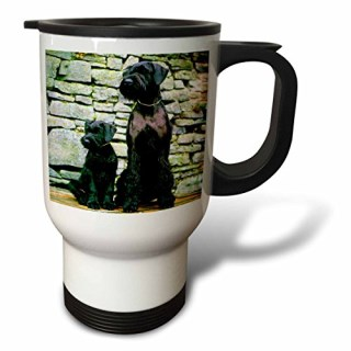 3dRose Giant Schnauzer Travel Mug, 14-Ounce, Stainless Steel
