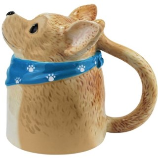 Westland Giftware 14-Ounce Chihuahua Bottoms Up Ceramic Mug, 4.75-Inch
