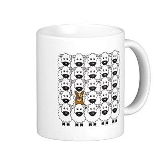 Australian Cattle Dog White Mugs Herding Funny Coffee Mugs