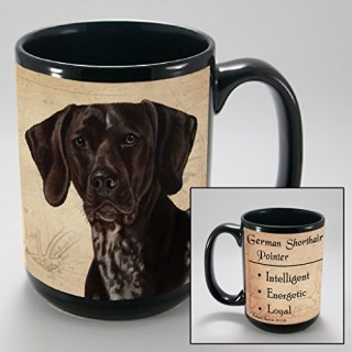 Dog Breeds (A-K) German Shorthair Pointer 15-oz Coffee Mug Bundle with Non-Negotiable K-Nine Cash by Imprints Plus (082)