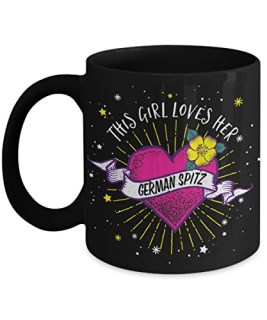 This Girl Loves her German Spitz Mug - Dog Lover Gifts and Accessories Coffee Cup