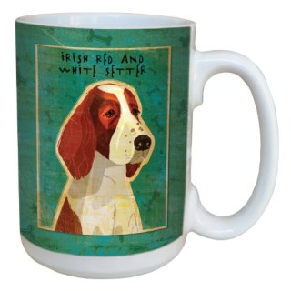 Tree-Free Greetings sg44039 Irish Red and White Setter by John W. Golden Ceramic Mug with Full-Sized Handle, 15-Ounce