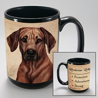 Dog Breeds (L-Z) Rhodesian Ridgeback 15-oz Coffee Mug Bundle with Non-Negotiable K-Nine Cash by Imprints Plus (144)