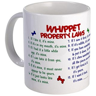 CafePress - Whippet Property Laws 2 Mug - Unique Coffee Mug, Coffee Cup