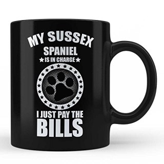 Sussex Spaniels Dog Owner Lover Perfect Gift Idea Black Coffee Mug by HOM
