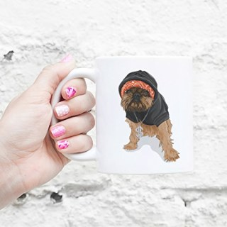 Gangster Digby Brussels Griffon Coffee Mug 11oz Dog Lover Gift for Him Her