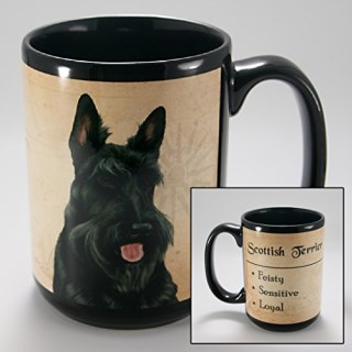 Dog Breeds (L-Z) Scottish Terrier 15-oz Coffee Mug Bundle with Non-Negotiable K-Nine Cash by Imprints Plus (155)