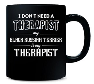 My Black Russian Terrier Is My Therapist Funny Gift - Mug