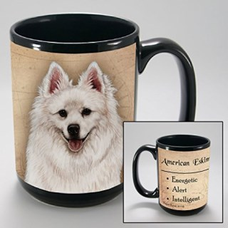 Dog Breeds (A-K) American Eskimo 15-oz Coffee Mug Bundle with Non-Negotiable K-Nine Cash by Imprints Plus (002)