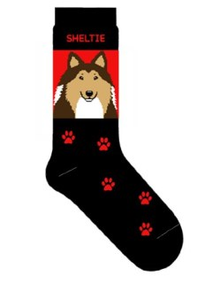 Shetland Sheepdog Novelty Dog Breed Adult Socks
