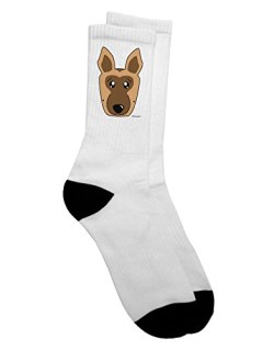 TooLoud Cute German Shepherd Dog Adult Crew Socks - Select Your Size