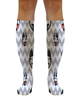 "American Pitbull Terrier Dog Pattern 5 21"" Solid White Tube Socks One Size"
