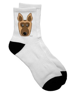 TooLoud Cute German Shepherd Dog Adult Short Socks - Select Your Size