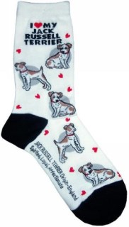 I Love My Jack Russell Gift Collection (Women Cotton Socks)