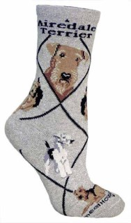 Airedale Terrier Woman's Socks Size 9-11