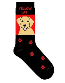 Yellow Labrador Retriever Novelty Dog Breed Adult Socks