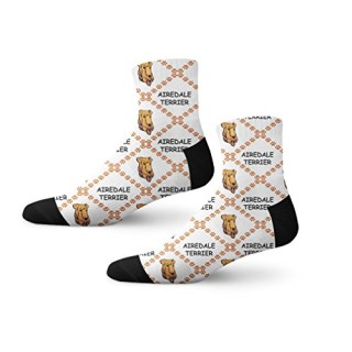Airedale Terrier Dog Paws Fun Cool Novelty Cuff Men Women Socks