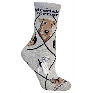 Airedale Terrier Cotton Ladies Socks