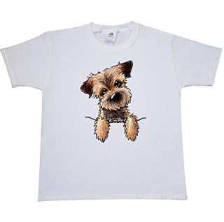 Inktastic Big Boys' Border Terrier Youth T-Shirt by KiniArt