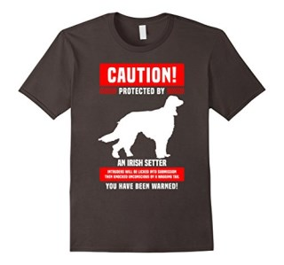 Funny Irish Setter Warning Protected By T-Shirt
