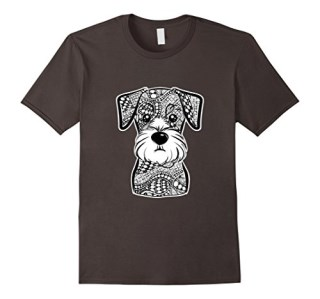 Miniature Schnauzer Face Graphic Art T-Shirt