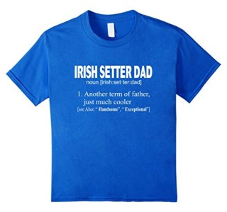 Funny Irish Setter Dog Lovers Definition T-Shirt, Gifts Dad