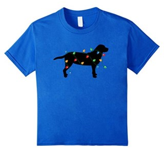Christmas Lights Labrador Retriever Dog Lover T-Shirt