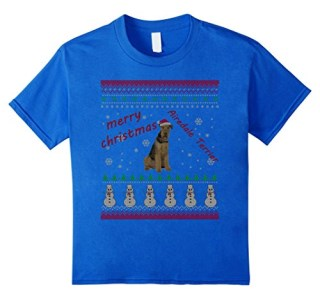 Airedale Terrier Christmas Shirt Xmas Gift Dog Lover T-shirt