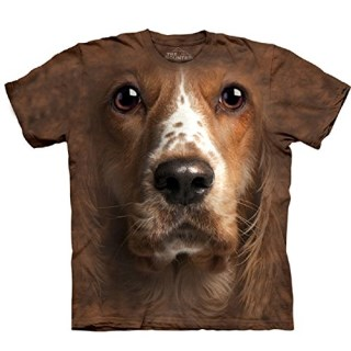 Mountain American Cocker Spaniel Face Adult Size T-shirt