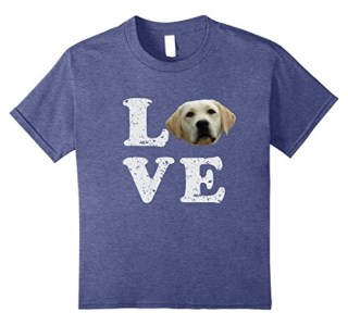 I Love My Yellow Lab T-Shirt | Labrador Retriever Dog Tee